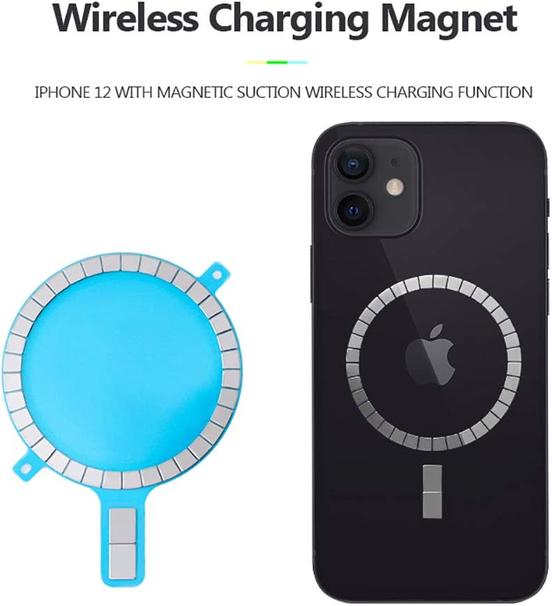 Mag Safe Case Magnet Sticker XZC Strong Magnetic Wireless Charging Magnet Mag Safe Sticker Magnet Circle for iPhone 12 Pro Max 12 Mini 11 Xs Xr 8 Mobile Phone Case 10 Pcs