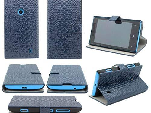 GUPi iPhone 5S - Libro de cocodrilo para iPhone 5S, color azul oscuro