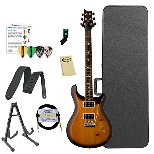 Paul Reed Smith Guitars ST24TS-Kit02 PRS SE Standard 24 Tobacco Sunburst Electric Guitar with ChromaCast Hard Case & Accessories