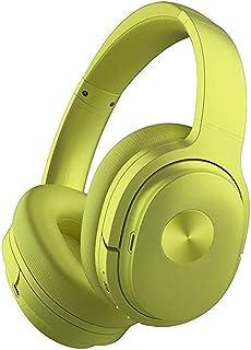 Active Noise Reduction Wireless Headphones Computer Phone Bluetooth Sport Headset Green linash