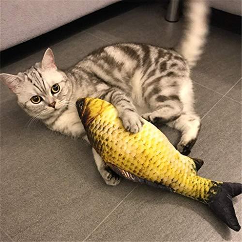 Jellycat conejo gris llavero de niffler cxjff Hierba gatera gato pez de juguete interactivo felpa suave almohada, Dientes de animal doméstico del gato de limpieza Salud Chew Bite recargable menta rell
