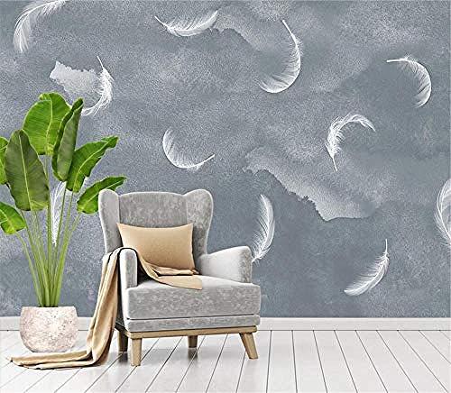 Moderne minimalistische graue abstrakte Feder für Wände Wandbilder Tapete für Schlafzimmer und Wohnzimmer Wanddekoration Arti wandpapier fototapete 3d effekt tapete tapeten wald vintage-400cm×280cm