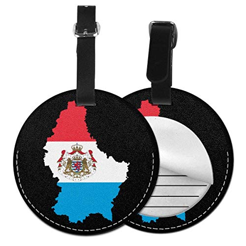 Luxemburg Vlag Kaart Ronde Bagage Id Tag Mode Bagage Tags Label Koffer Draagtas Bagage Tassen Privacy Cover
