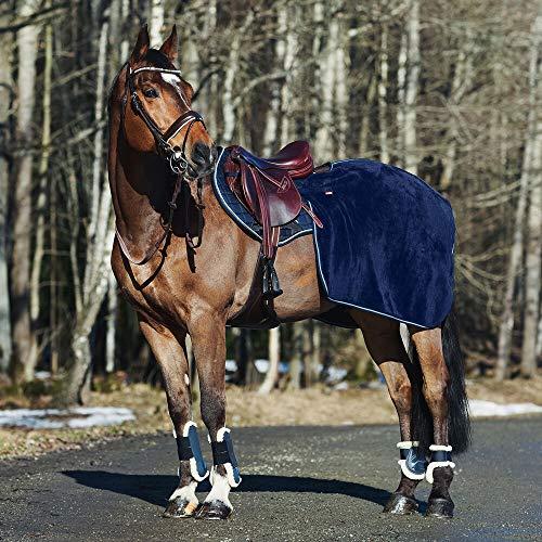 horze Kingsley Trainingsdecke, Ausreitdecke, Warm, Größe: Pony, Vollblut, Warmblut, Extra Warmblut, Dunkelnavy, Blau, P