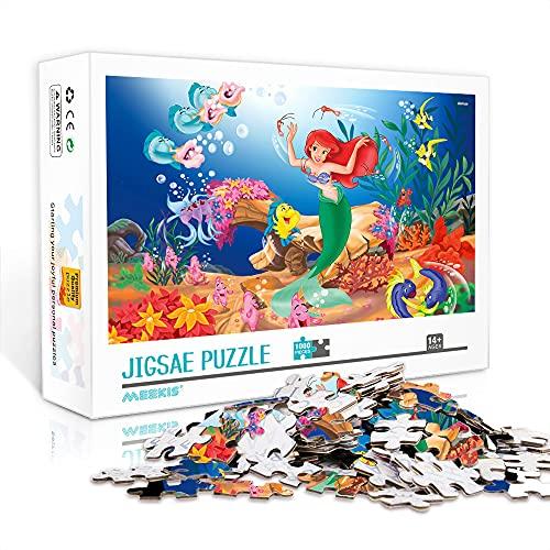 WJHXYD Rompecabezas para Adultos 1000 Piezas La Sirenita Color Puzzle 1000 Piezas Juego Educativo para Adultos y niños Alivio del estrés 75x50cm