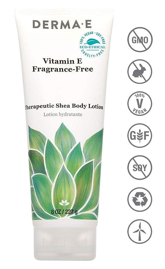 防水ストラップ罹患率Derma E Therapeutic Vitamin E Intense Moisture Body Lotion - Fragrance-Free 227g/8oz並行輸入品