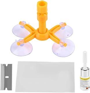 Qiilu Windshield Repair Kit DIY Car Windscreen Windshield Chip Repair Kit - Quick Fix Window Glass Scratch & Crack Tool, R...