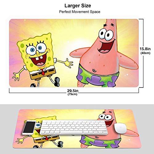 Colorful Spongebob Gaming Mousepad Computer Keyboard Mousepad Mouse Mat for Keyboard and Mouse
