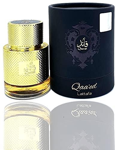 QAA'ED - Perfume de bolsillo árabe de 30 ml, para hombre y mujer con toque oriental de occidental, vainilla, piel, ámbar y madera (lote de 1)