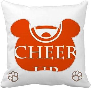 OFFbb-USA Happy Expressive Happy Positive Bear - Funda cuadrada para almohada