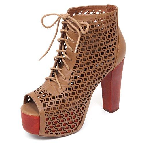 Jeffrey Campbell D2226 Sandalo Donna Gallatin Scarpe Marrone Shoe Woman [40]