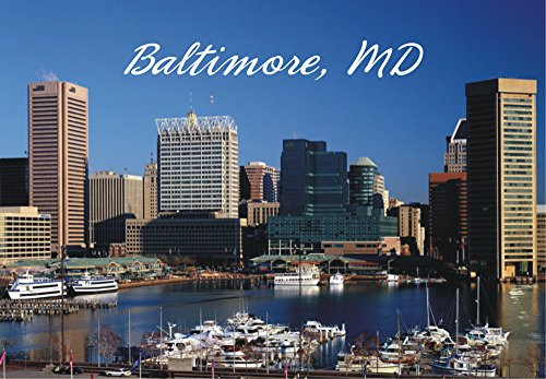 Baltimore, Inner Harbor, Maryland, City Skyline, MD, Magnet 2 x 3 Photo Fridge Magnet