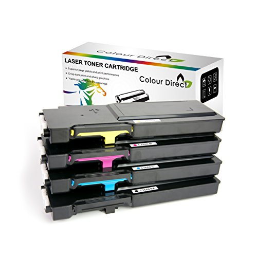 Full Set Colour Direct Compatible Toner Cartridges Replacement For Dell 593-BBB 593-BBBU 593-BBBT 593-BBBS 593-BBBR C2660dn C2665dn C2665dnf Printers 6K Pages Black, 4K pages Colours