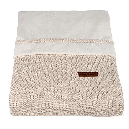 BO Baby's Only - Baby Bettwäsche Classic - TOG 1.5 - Gestrickte Babydecke für Kinderbett oder Kinderwagen - 100x135 cm - Sand