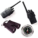 CAR SHUN Walkie talkies con prismáticos para niños-walkie talkies activados por Voz para niños o niñas, walkie Talkie Juguetes Set,explorenature3sets