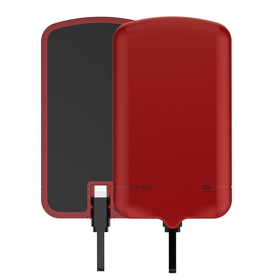 閲覧する夢パフ超スリムバッテリーケースカバー携帯電話ケース Happon [Anti-Slip] バンパー 設計 - Red