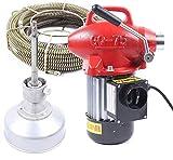 RANZIX 20-100mm Rohrreinigungsmaschine 400 Watt Rohrreinigungsgerät 22.5mx16mm Spirale Rohr-Reiniger Reinigung Werkzeug (Rot)
