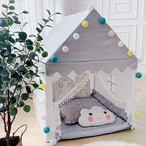 Kids Play Tent Playhouse for Kids Tent Indoor Large Play Castle Fairy Tent for Girls Boys Toddler Toys Birthday Gift