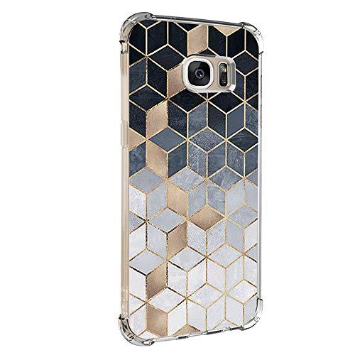 14chvily Kompatibel mit Galaxy S7 Hülle, Marmor-Design Silikon S7 Handyhüllen Bumper Ultra Dünn Durchsichtig TPU Schutzhülle für Galaxy S7 Edge (05) (5, S7)