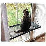 FHISAO Gato Hamaca para Windows, Práctica Cama del Gato/Gato Ocioso por Encima de la repisa de la Ventana de Ventosa Gato Hamaca de la litera,A