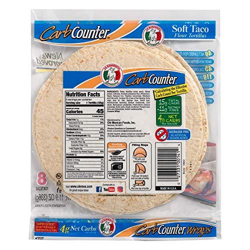 La Banderita® Carb Counter | Keto Friendly | Low Carb | 8