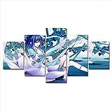 Cuadro En Lienzo Decoracion 5 Piezas HD Imagen Impresiones En Lienzo Animación De Dibujos Animados Lienzo Grandes XXL Murales Pared 5 Paneles De Pinturas De Obras De Arte Moderno