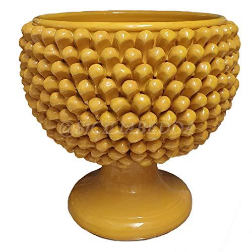 sicilia bedda - Jarrón medio piña de cerámica de CalTAGIRONE – Elegante...