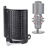 HyperX QuadCast Microphone Pop Filter - Metal Panel Metal Mesh Filter Foam Three Layers Mic Windscreen Pop Screen Compatible with HyperX QuadCast S Mic by YOUSHARES