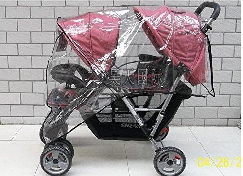 Twin Babies Cart kinderwagen paraplu waterdicht voor en na regen wind duwde een stoel stofkap babywagen YUJU27LL