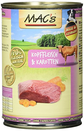 MAC's Kopffleisch & Karotten, 6er Pack (6 x 400 g)