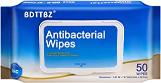 (US SHIPMENT) BDTTBZ 50 Sheets Disposable Wet Wipes, Travel Size Cleaning Wet Wipes, All Purpose Portable Hand Wipes for Adults Family, Travel, Bathroom & Kitchen