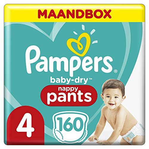 Pampers Baby-Dry pantalones, Talla 4 ((9-15 kg/8-14 kg), 1