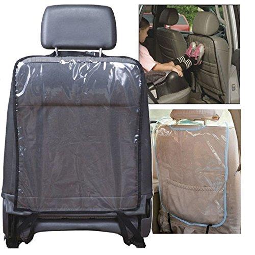 Dapei Autositz Rückenschutz Abdeckung, Auto Sitze Schutz durchsichtige Abdeckungen, Anti Kick Matte Schlammreinigung für Kinder Baby Hunde, passend für die meisten Fahrzeuge (B)