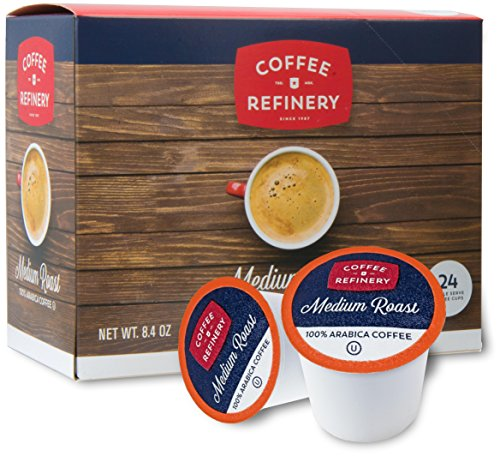 Coffee Refinery Medium Roast Arabica Coffee, Coffee Pods Compatible with All Keurig Pods and K Cup Coffee Makers Kosher Certified (24)
