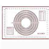 Tapis de Cuisson en Silicone 60 * 40/29 * 26cm avec échelle Tapis de pâte à Rouler Tapis de pâte antiadhésif Feuilleté Feuilletage Four Grade Food Liner, Noir Grand