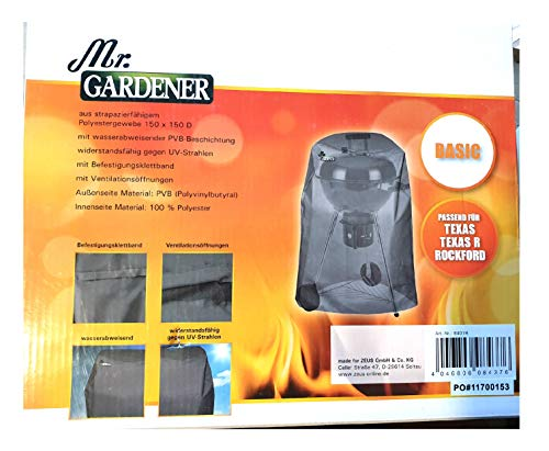 Mr.Gardener Grill-Abdeckhauben Basic ca. 73 x 90 cm DxH 150 x 150 D - für Texas Texas R Rockford