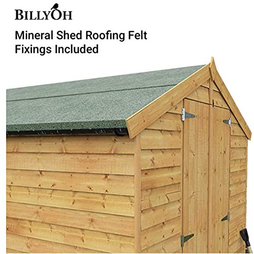 BillyOh Premium Green Mineral Shed Roofing Felt 4m x 1m with Fixings
