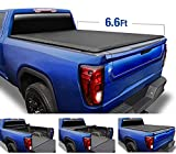 Tyger Auto T1 Soft Roll Up Truck Bed Tonneau Cover Compatible with 2014-2018 Chevy Silverado / GMC Sierra 1500; 2015-2019 2500 HD 3500 HD; 2019 LD/Limited Only | Fleetside 6'6' Bed (78') | TG-BC1C9007