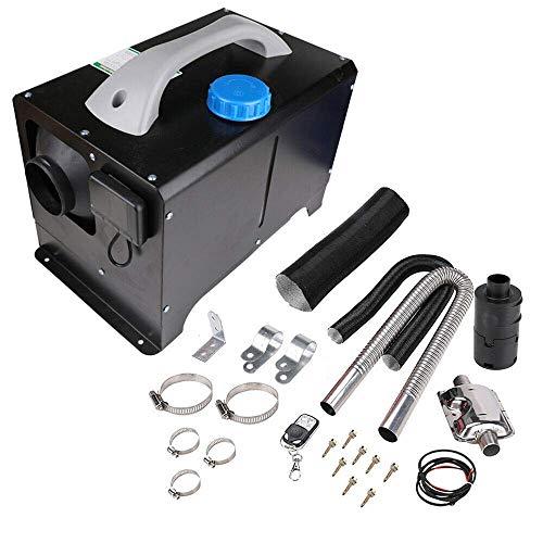Aohuada Calentador de aire de estacionamiento, 8000 W, 12 V, para coches/camiones con mando a distancia calefactor de aire con pantalla LCD calefactor de estacionamiento diésel (negro)