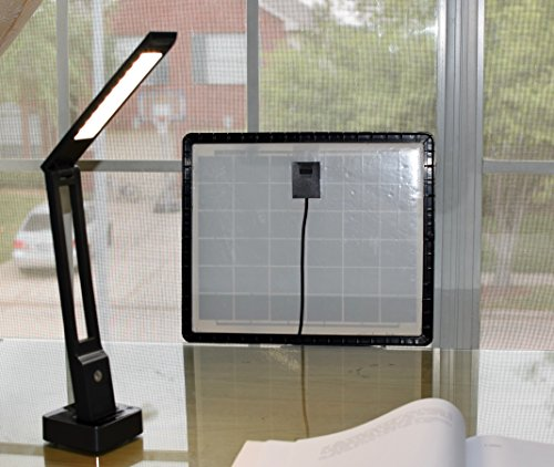 Solar Desk Lamp; Solar Panel on Window to Charge During The...