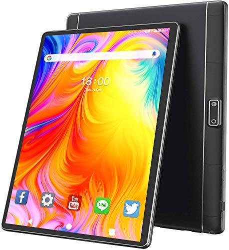 Tablet 10 Pollici ANTEMPER Android Tablets 9.0,3G Cellular Dual SIM+WIFI,HD IPS,32GB ROM 128GB Espandibili,6000mAh,Quad Core,Doppia Fotocamera,Certificazione Google GMS,GPS|Bluetooth|OTG|FM-Nero