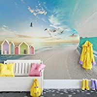 写真の壁紙3D立体空間カスタム大規模な壁紙の壁紙 海の空リビングルーム現代リビングルームのテレビの背景寝室家の装飾壁画 -280X200cm(110 * 78インチ)