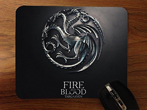 Game Of Thrones Targaryen Fire And Blood Desktop Mouse Pad