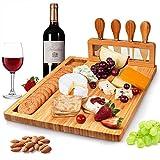 Kitchen Set de Regalo de Tabla de quesos,Tablas de Queso de bambú Tabla para quesos con Cuatro Cuchillos para quesos de Regalo - Ponga, Regalos de inauguración de la casa