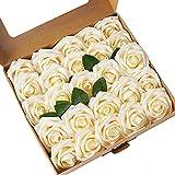ASYOUWISH Flores Artificiales, 25 Piezas, Rosas de Imitación de...