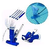 RDJSHOP Aspirador de piscina Jet, kit de mantenimiento portátil de piscina, para limpieza de fuentes de estanque de piscina, hojas, suciedad y arena y limo