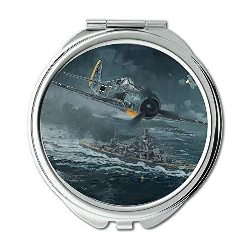 Yanteng Weltkrieg Flugzeuge, Spiegel, Schminkspiegel, Kämpfer Mädchen Namen, Taschenspiegel, Tragbare Spiegel