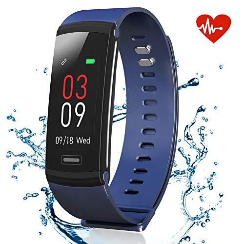 AKASO Fitnessarmband, tracker met hartslagmeter, waterdicht IP67, activiteitstracker met kleurenbeeldscherm, hartslagmeting, stappenteller, calorieënteller, slaapanalyse, fysiologische herinnering