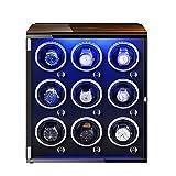 XYSQ Lujo Caja Giratorias para Relojes con Motor Silencioso 5 Modos Diferentes Rotación con Luces De Colores para La Mayoría De Los Relojes De Pulsera Exhibición (Color : C)