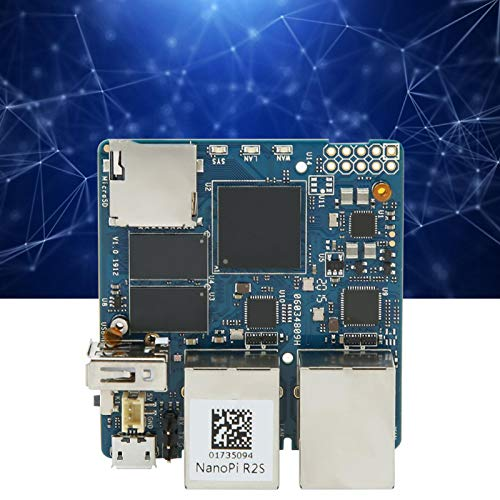 Jeanoko Módulo Módulo de alimentación Puerto de Red Accesorio eléctrico RK3328 para R2S para Chip RK3328 para Memoria RAM DDR4 de 1GB